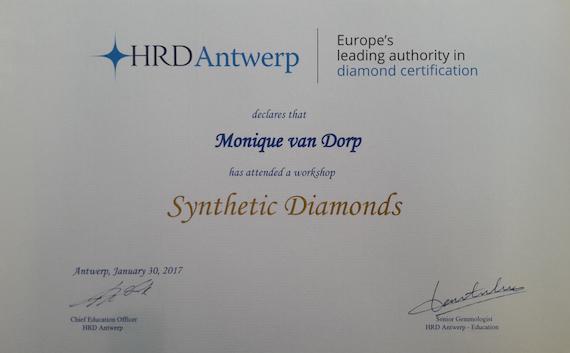 Certificaat HRD - Edelsmederij puur & pracht Helvoirt