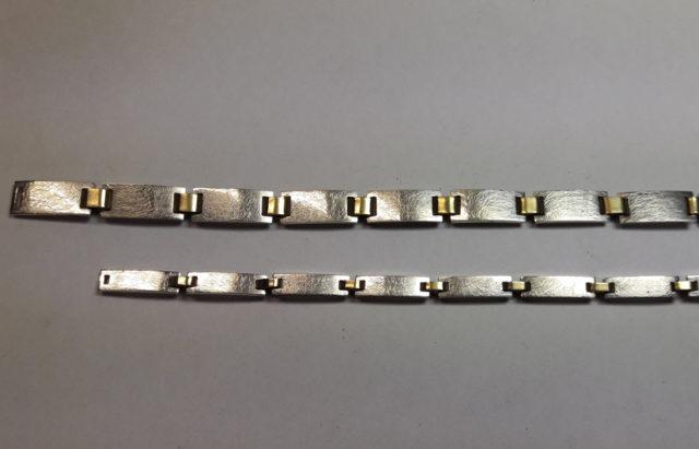 Armband schakels zilver goud afwerken en eindresultaat - Edelsmederij puur & pracht Helvoirt