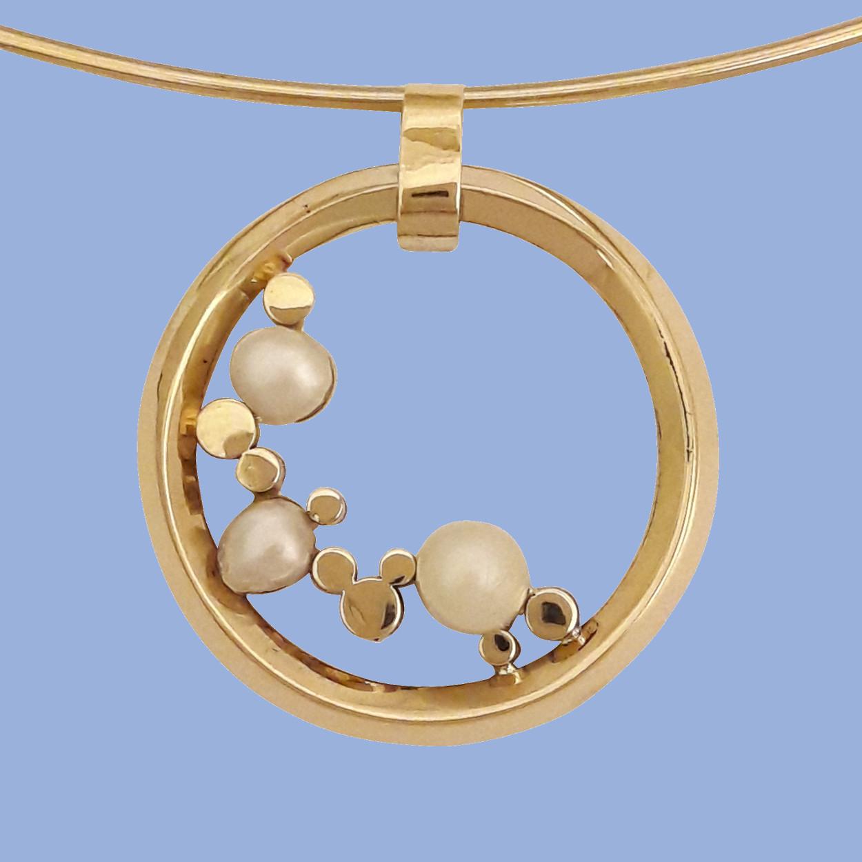 Parel en goud waterval - Colliers - Edelsmederij puur & pracht Helvoirt