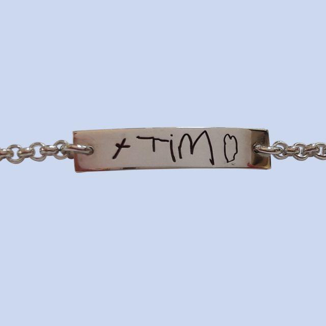 Naamarmband_met_zelfgeschreven_tekst- Armband- Edelsmederij puur & pracht Helvoirt