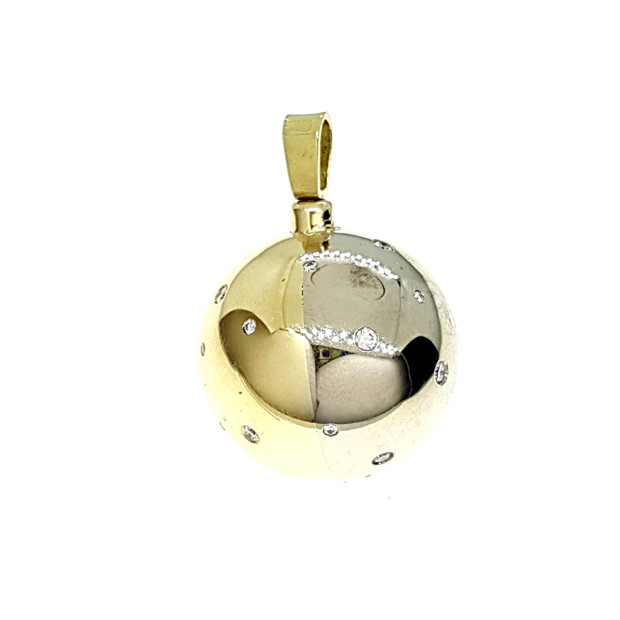Hanger bicolor en diamant - sieraad in opdracht - Edelsmederij puur & pracht Helvoirt